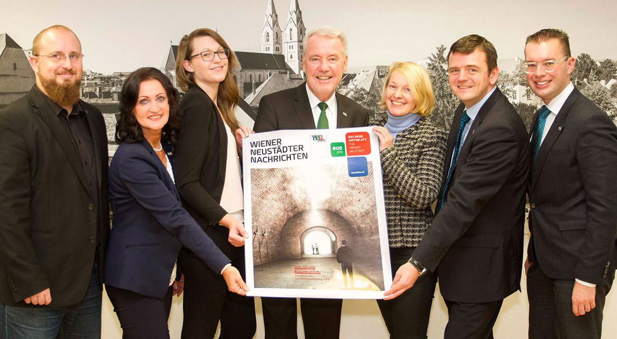 1 Jahr Amtsblatt Relaunch / Foto: Wiener Neustadt/Horvath-Harnisch