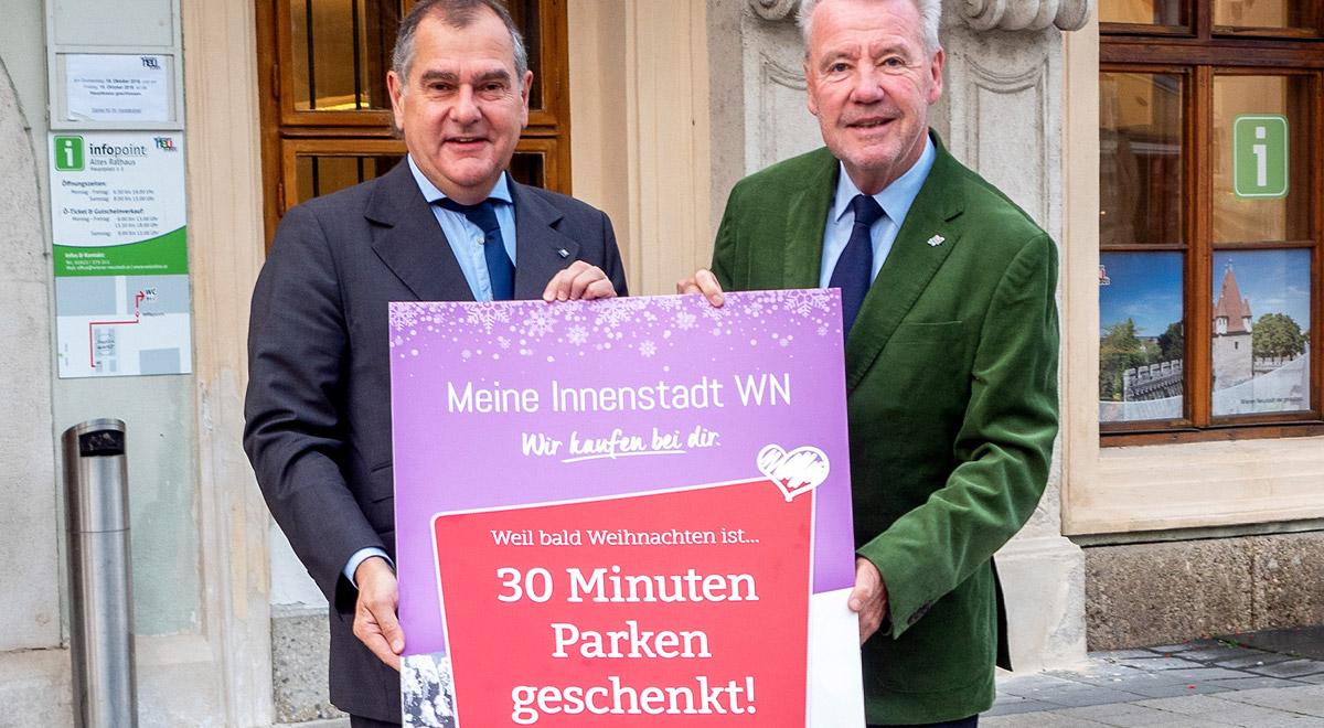 30 Minuten Parken gratis / Foto: Wiener Neustadt/Pürer