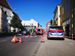 Absperrung Ungargasse / Foto: Presseteam ffwrn.at