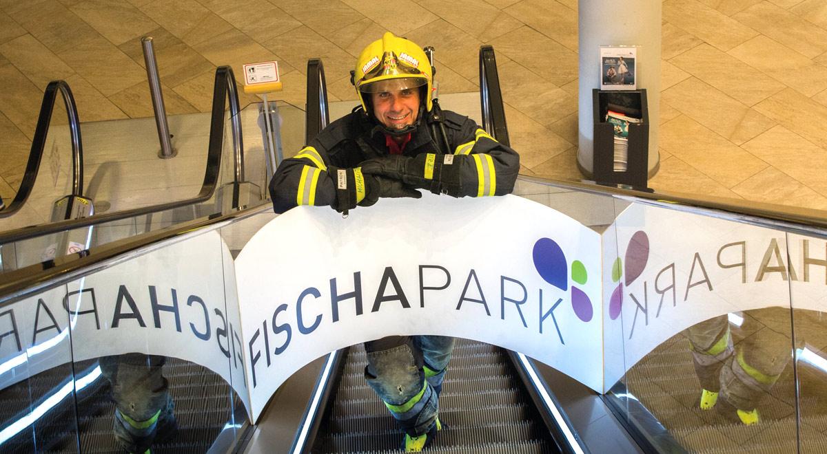 Andreas Michalitz vor dem Weltrekordversuch / Foto: Presseteam Feuerwehr Wr. Neustadt