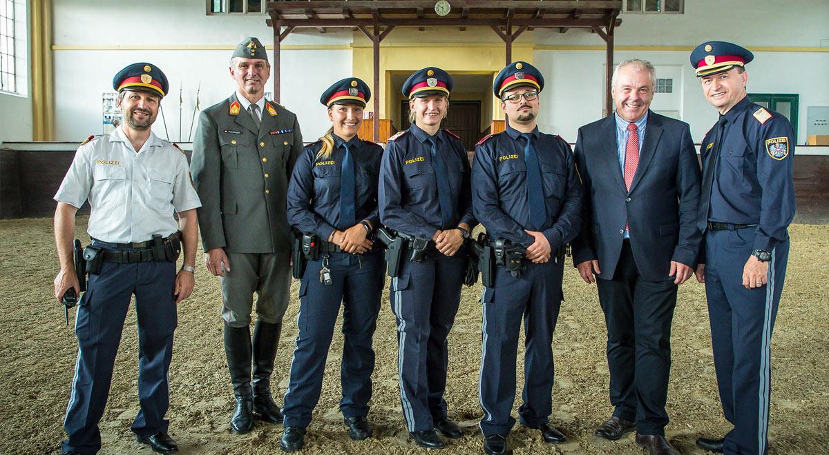Ausbildung berittene Polizei / Foto: ©  BMI/Gerd Pachauer