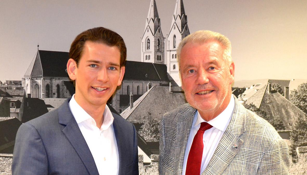 ARbeitstreffen mit Aussenminister Kurz / Foto: Wiener Neustadt / Pürer