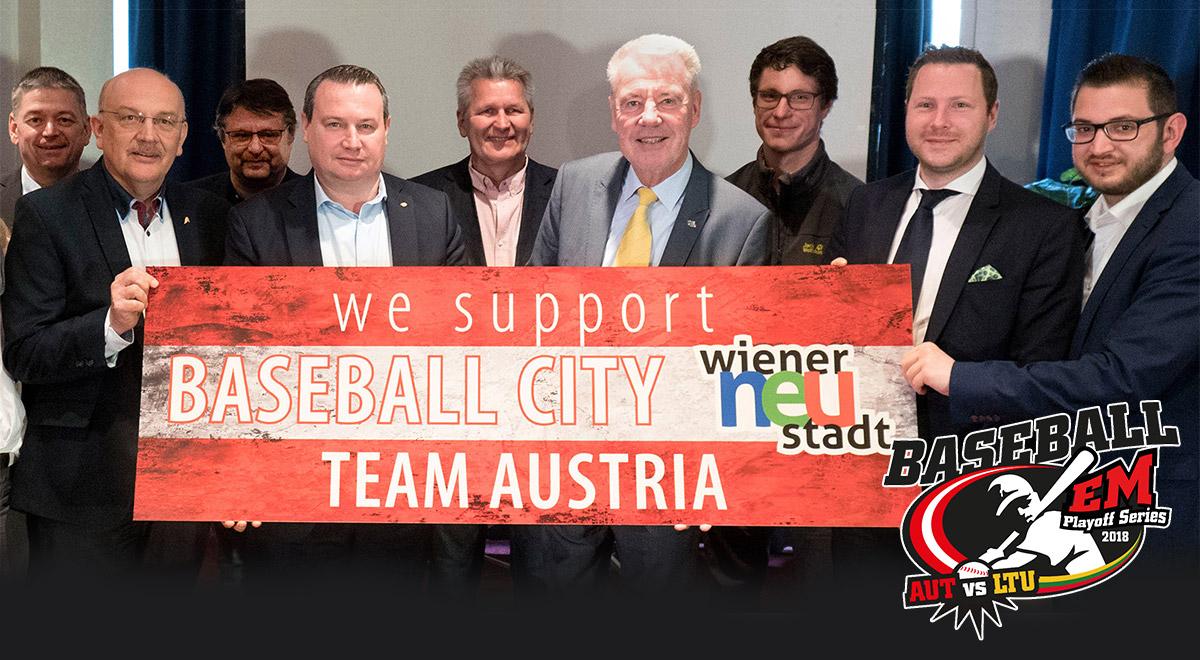 Kickoff zum Baseball-EM-Play Off / Foto: Wiener Neustadt/Weller