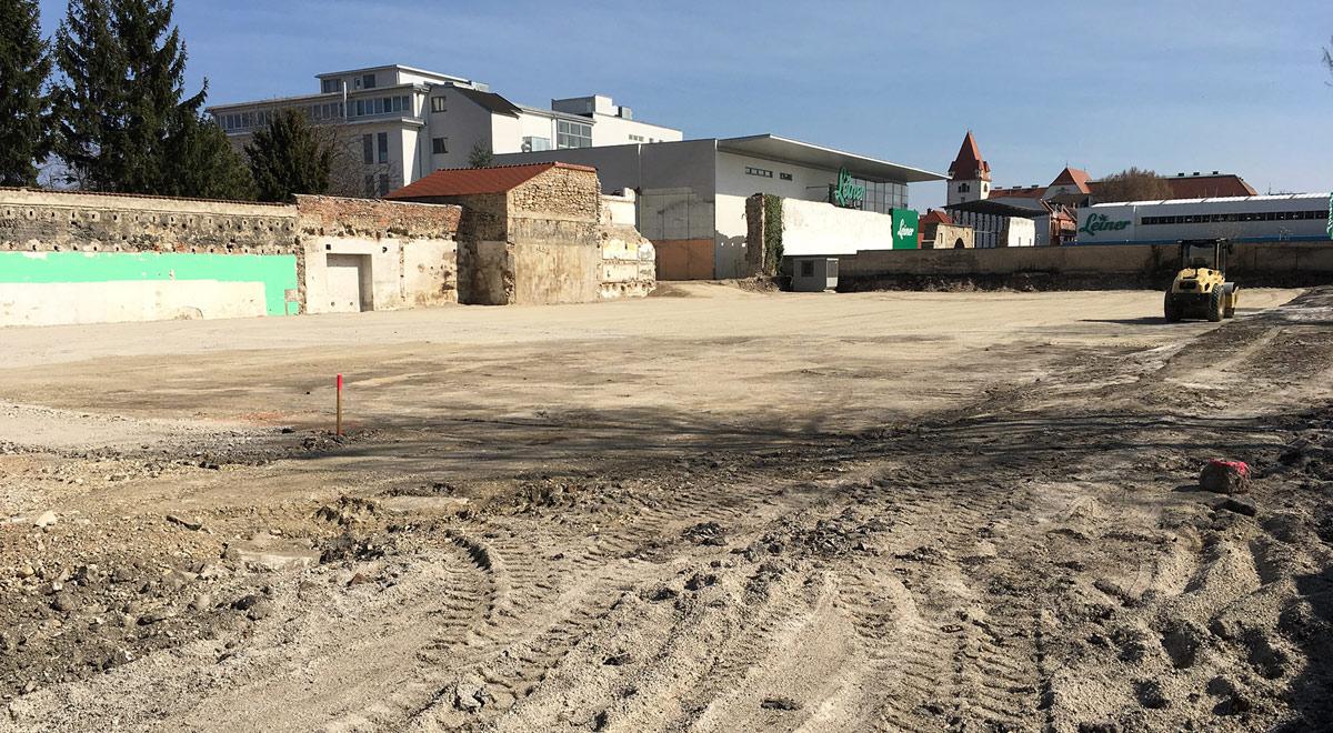 Bauhistorische Untersuchung an der Stadtmauer / Foto: Wiener Neustadt/Burgstaller