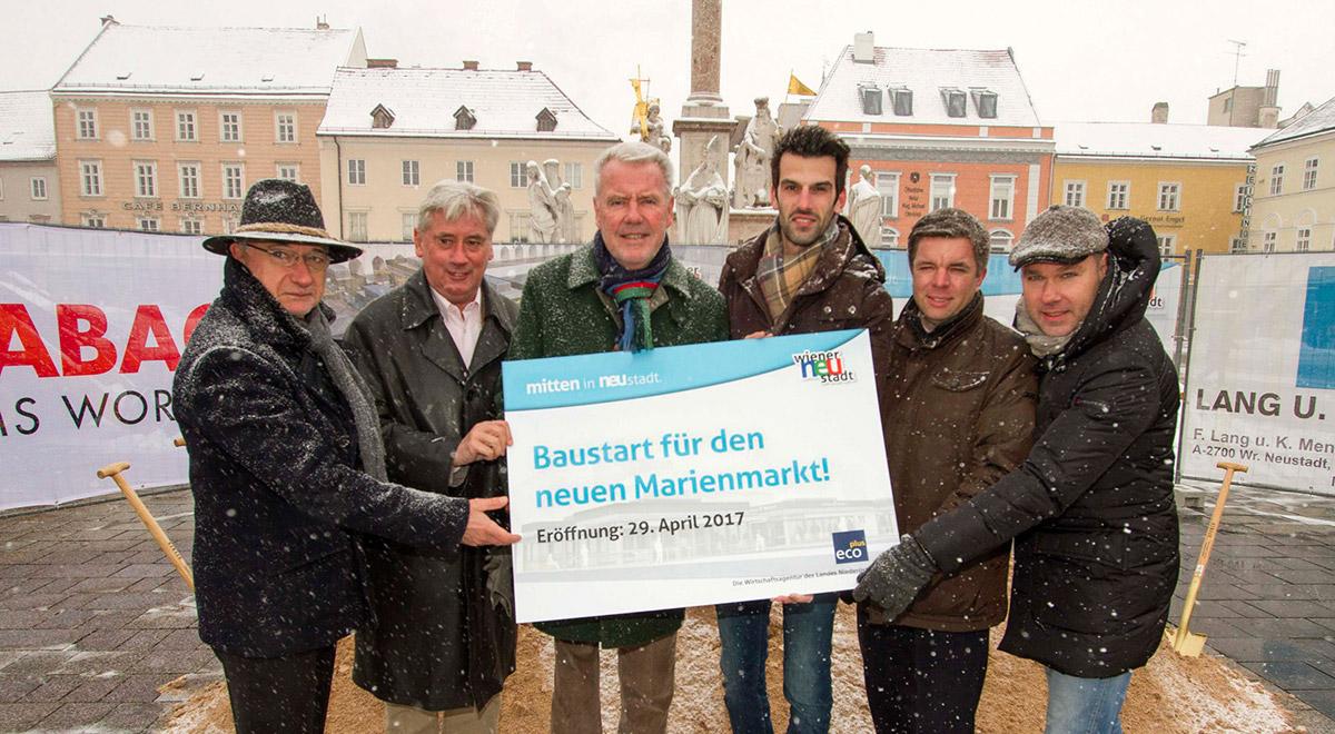 Baustart Marienmarkt / Foto: Wiener Neustadt/Weller