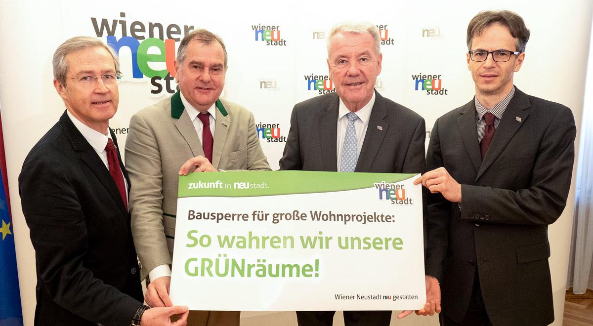 Bekanntmachung Bausperre Wiener Neustadt / Foto: Stadt Wiener Neustadt/Weller