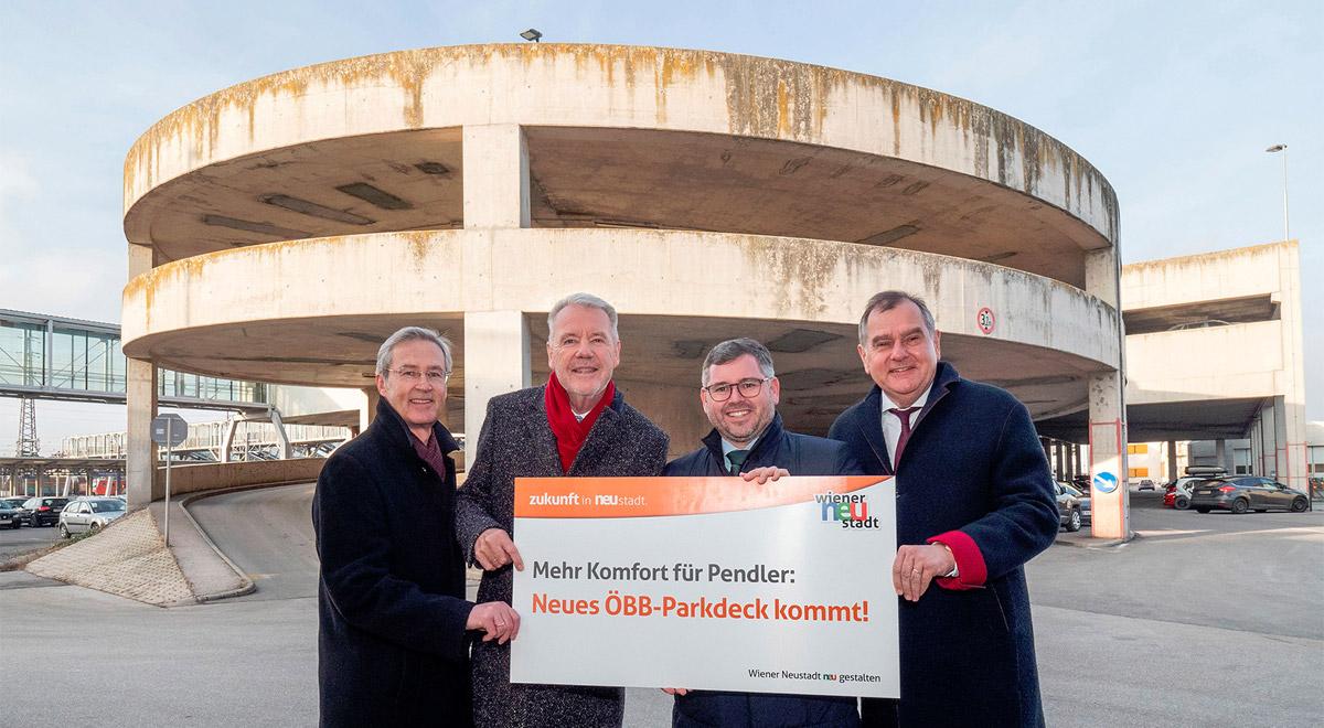 Präsentation Parkdeck / Foto: Stadt Wiener Neustadt/Weller