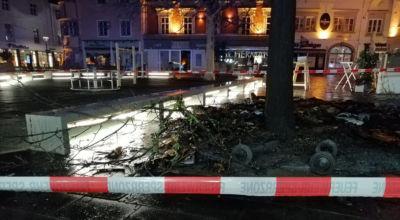 Müllbrand am hauptplatz / Foto: Presseteam d. FF Wr. Neustadt