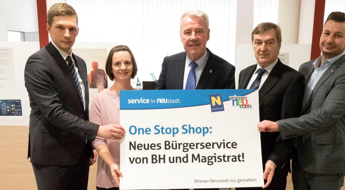 Bürgerservice: One-Stop-Shop / Foto: Wr. Neustadt / Weller