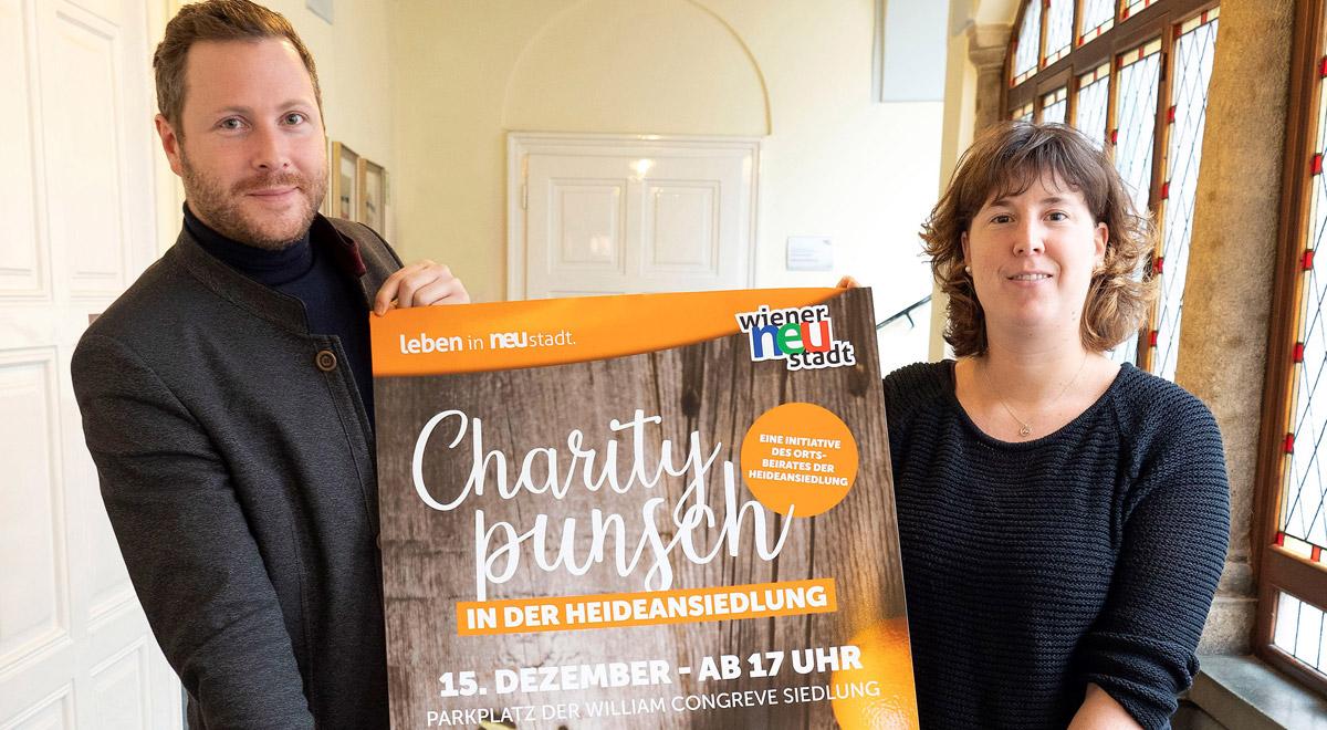 Charity-Punsch in der Heideansiedlung / Foto: Stadt Wiener Neustadt/Weller