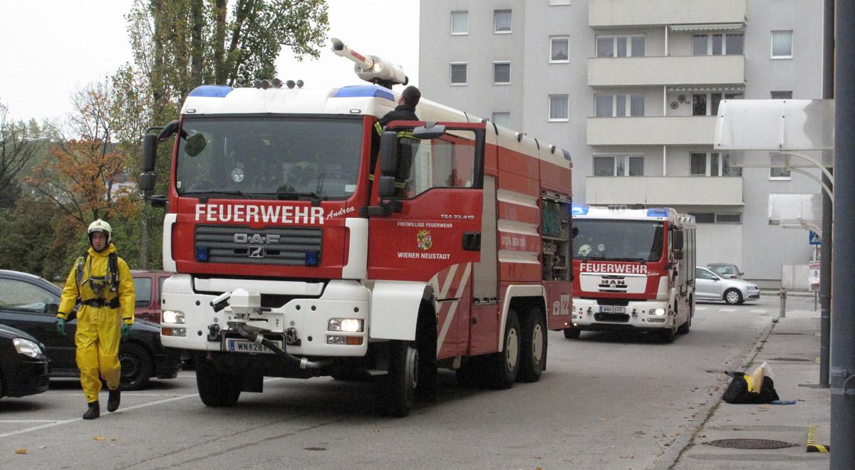 Chlorgasalarm Wiener Neustadt / Foto: Presseteam Feuerwehr Wiener Neustadt