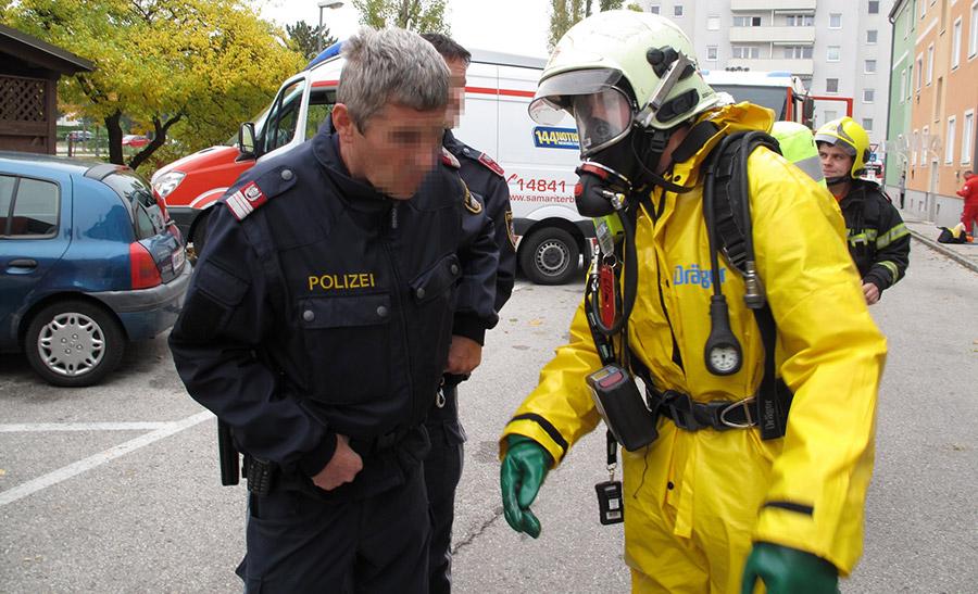 Chlorgas-Einsatz am Flugfeld / Foto: Presseteam Feuerwehr Wiener Neustadt