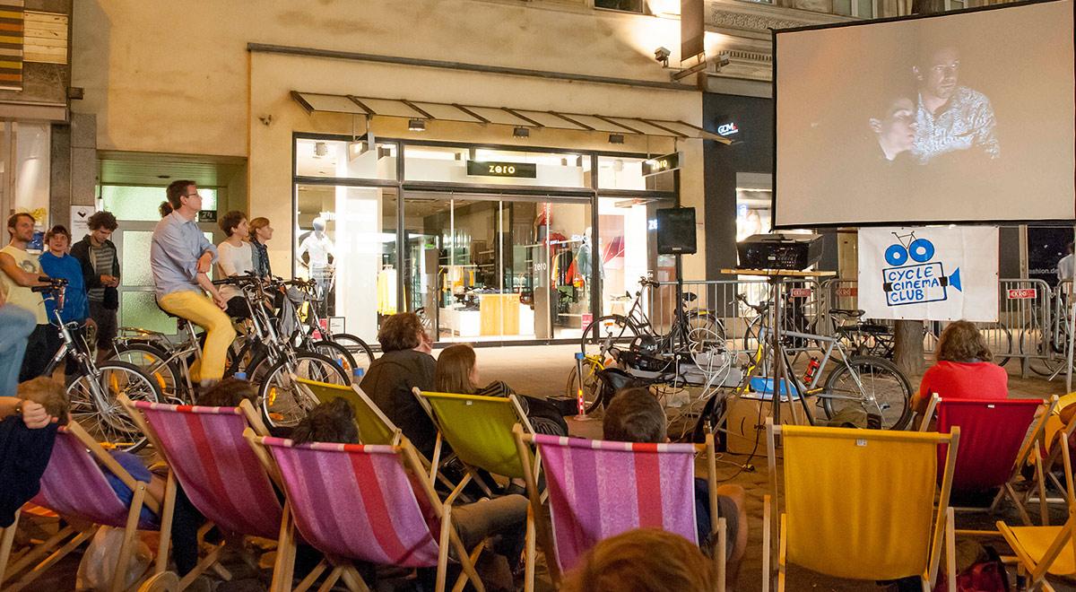 CycleCinema in Neunkirchen / Foto: Erwin Preuner