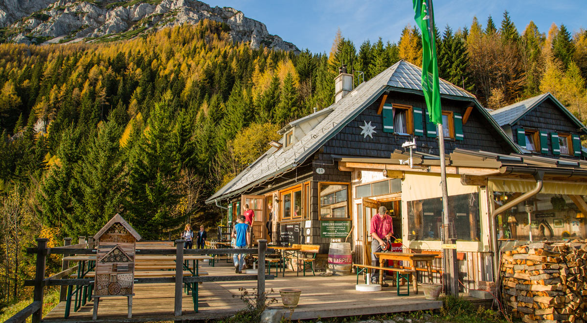 Edelweißhütte am Schneeberg / Foto: ©Wiener Alpen/Franz Zwickl