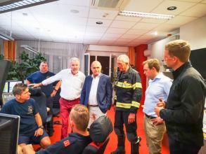 Einsatzleitung Feuerwehr / Foto: Presseteam d. FF Wr. Neustadt