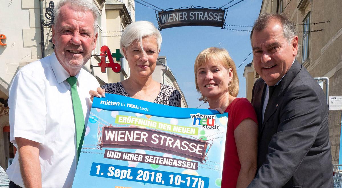 Eröffnungsfeier Wiener Straße / Foto: Wiener Neustadt/Weller