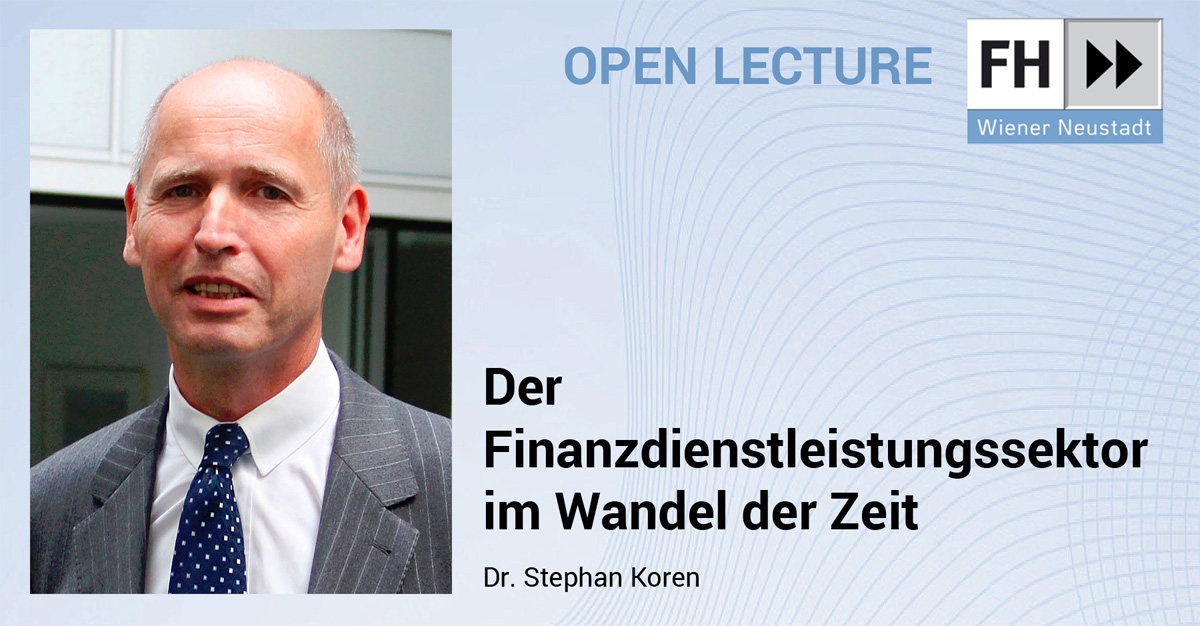 Open Lecture mit Dr. Stephan Koren / Foto: ÖVAG