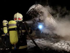 Fahrzeugbrand Südautobahn / Foto: Presseteam d. FF Wr. Neustadt