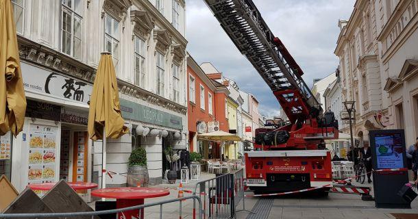 Foto: Fassaden-Schaden in Wiener Neustadt