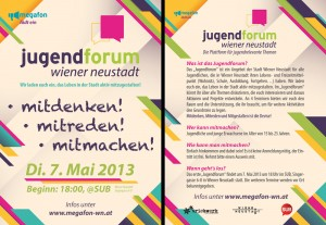 Flugblatt Jugendforum 2013