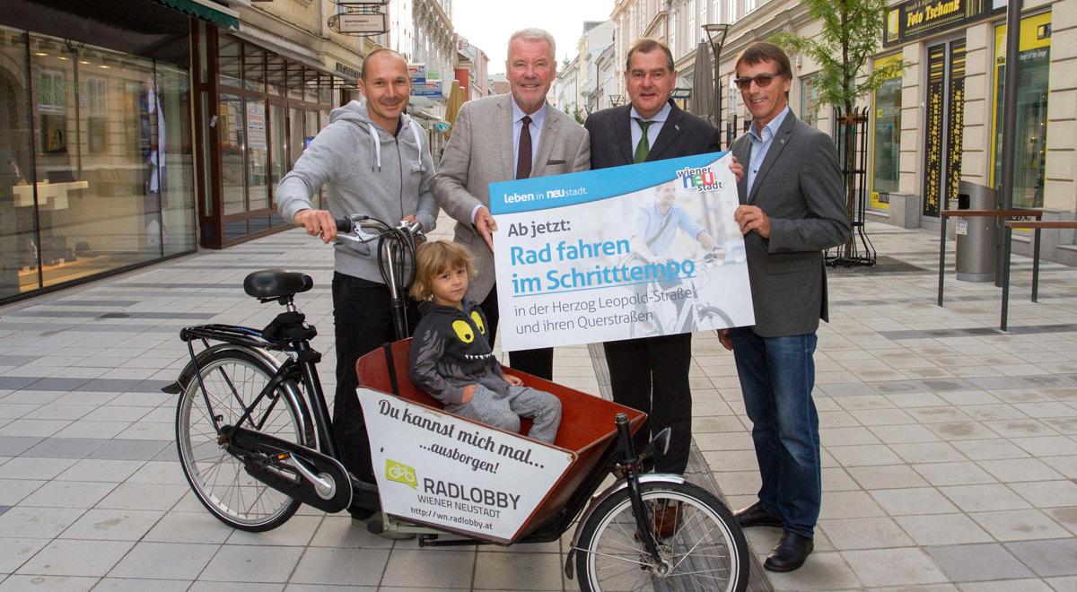 Radfahren in Fußgängerzonen / Foto: Wiener Neustadt/Weller