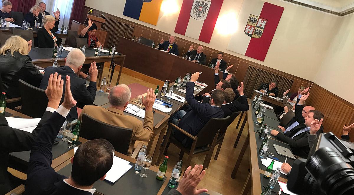 Gemeinderatssitzung Beschluss / Foto: Stadt Wiener Neustadt