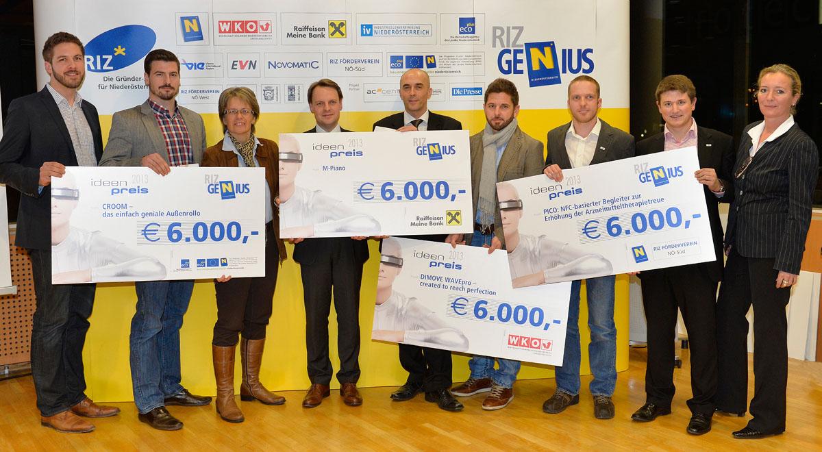 Gewinner RIZ Genius 2013 / Foto: NLK/Burchhart u. SchoberArts