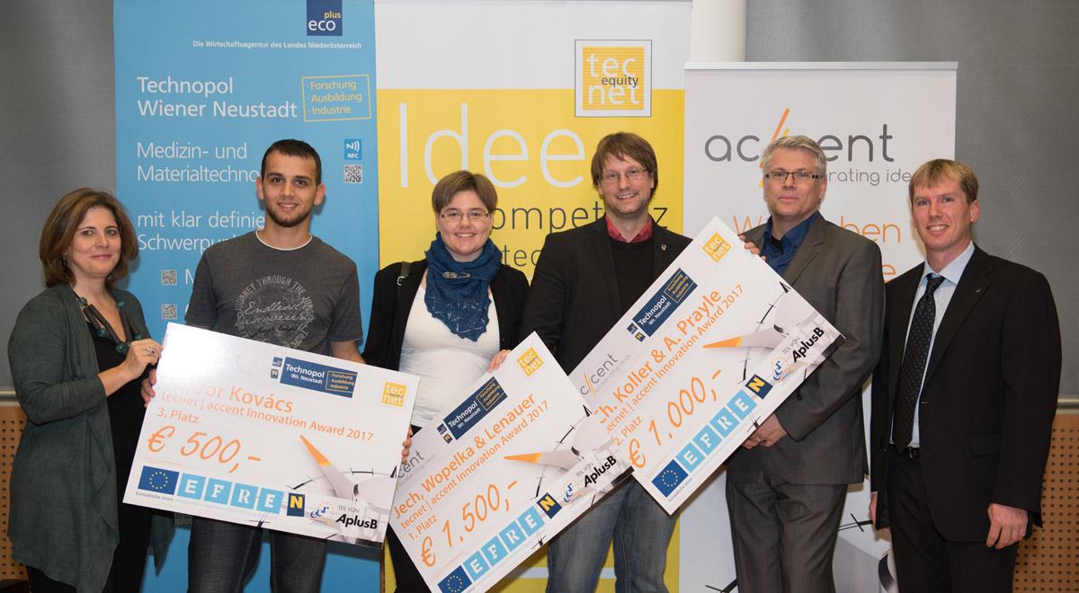Gewinner TFZ-Innovation-Award / Foto: ecoplus/zech