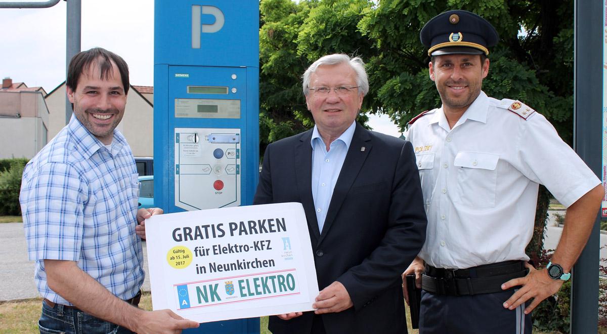 Gratis Parken für Ecars / Foto: Stadtgemeinde Neunkirchen