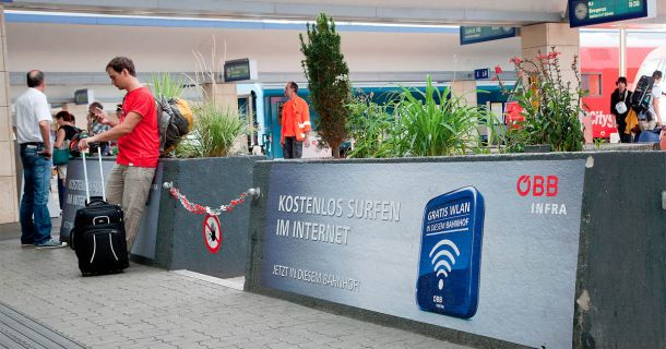 Foto: Gratis WLAN in Bahnhöfen