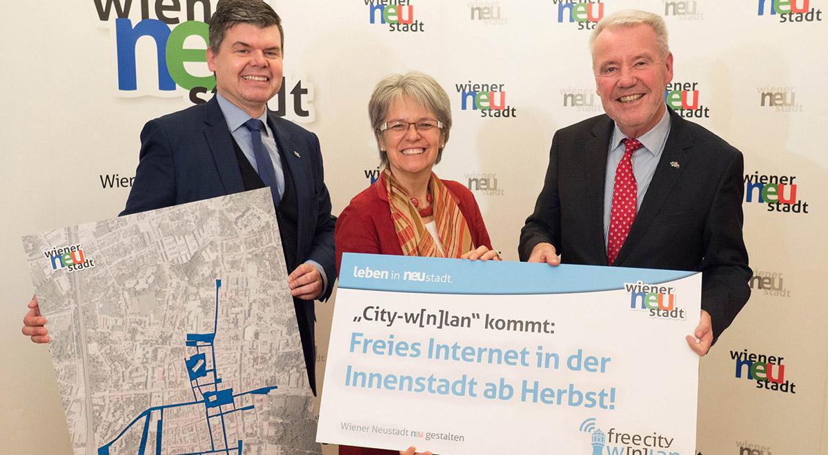 Gratis-Wlan-Innenstadt / Foto: Wiener Neustadt/Weller