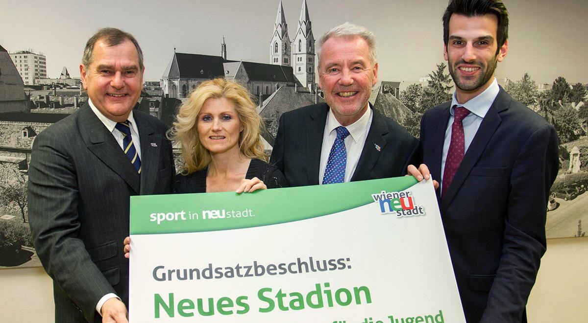 Grundsatzbeschluss: Stadion neu / Foto: Wiener Neustadt/Weller