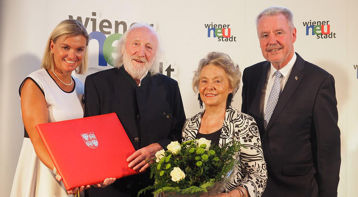 Karl Merkatz wird Ehrenbürger / Foto: Wiener Neustadt/Pürer