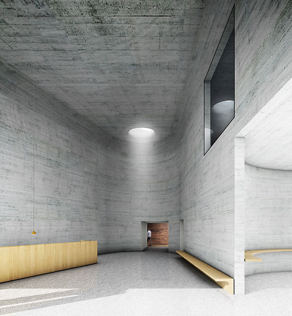 Kasematten neu: Foyer / Foto: bevk perovic arhitekti