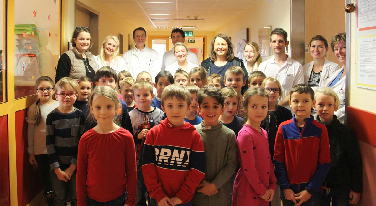 Kinder singen im Landesklinikum / Foto: zVg.