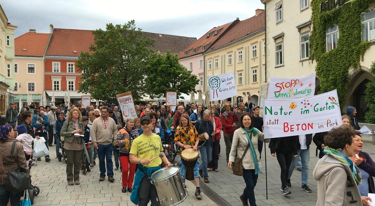 Kundgebung für den Akademiepark / Foto: zVg.