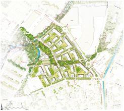Stadtionareal neu: Lageplan, Leitidee / Foto: Albert WimmerZT-GmbH