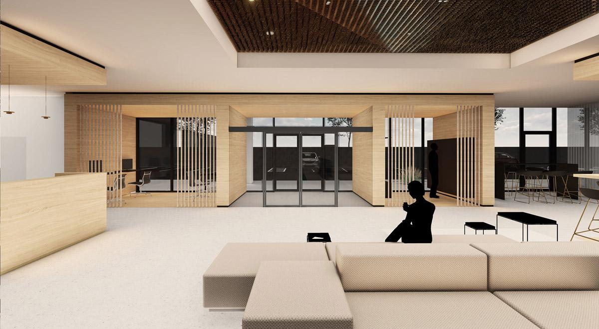 Lobby Garden Inn Wiener Neustadt / Foto: kaltenbacher architektur