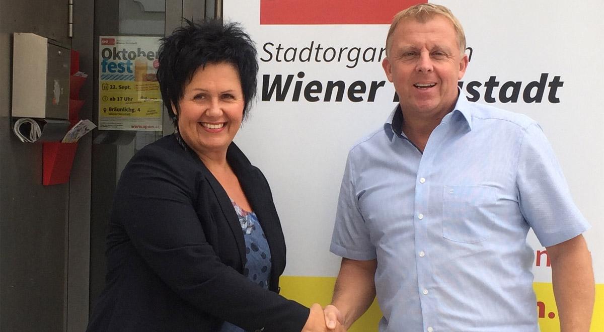 Margarete Sitz, Horst Karas / Foto: SPÖ WN