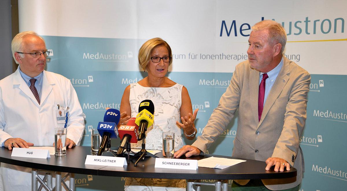 MedAustron Pressekonferenz / Foto: © NLK Reinberger