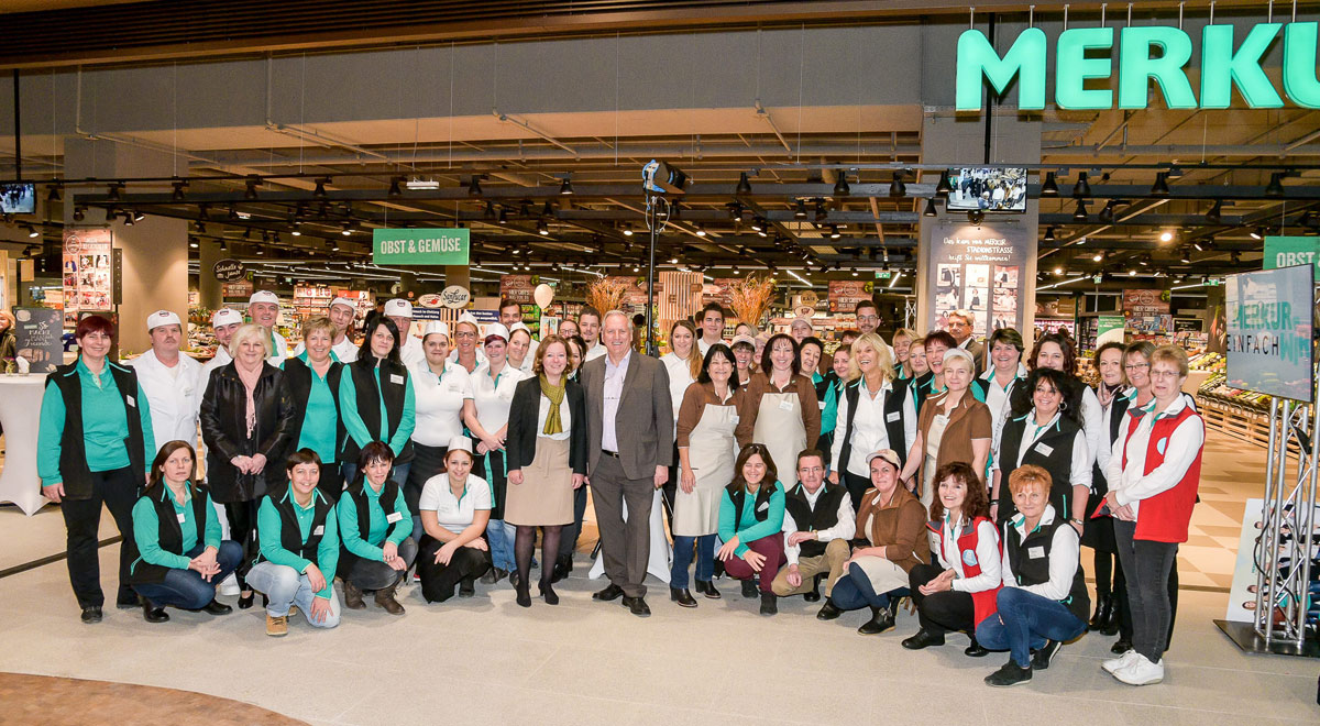 Merkurmarkt Wiedereröffnung / Foto: MERKUR Warenhandels AG