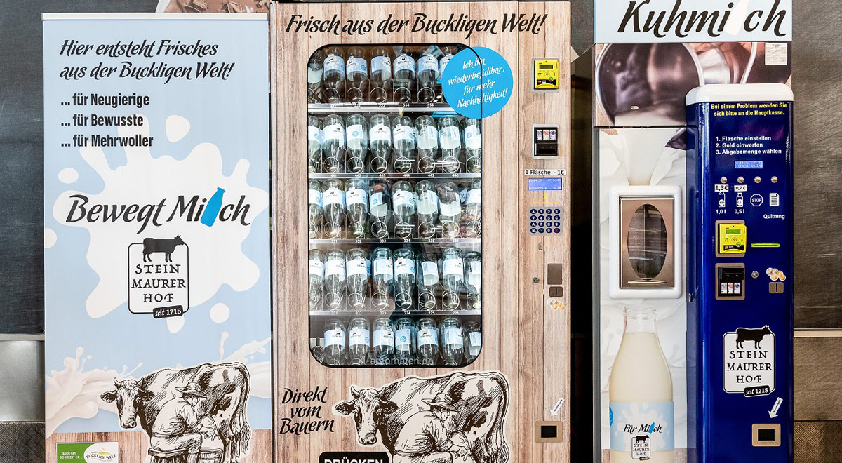 Milchautomat / Foto: MERKUR Warenhandels AG / Harald Eisenberger