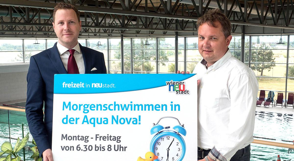 Morgenschwimmen in der Aqua Nova / Foto: Wiener Neustadt/Pürer