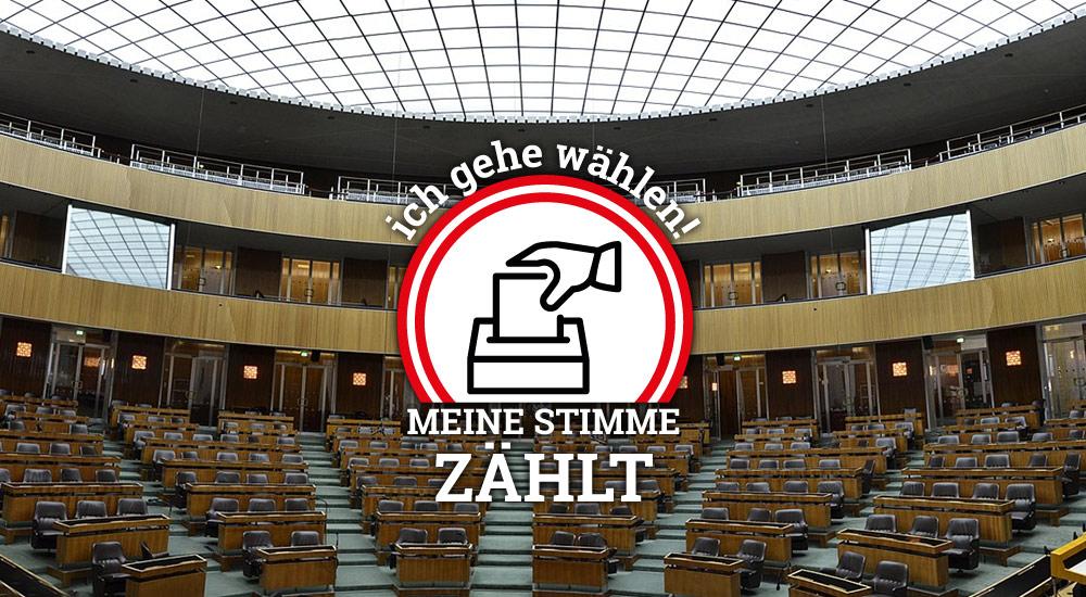 Nationalrat Parlamentsgebaeude / Foto: wikimedia (CC0 1.0) / Grafik wn24