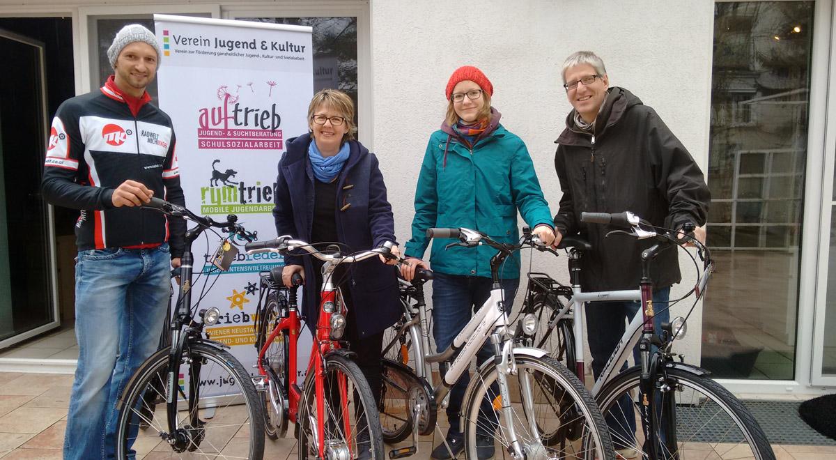 Fahrradspende / Foto: Verein Jugend & Kultur