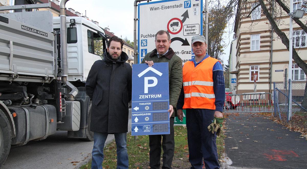 Neues Parkleitsystem / Foto: zVg