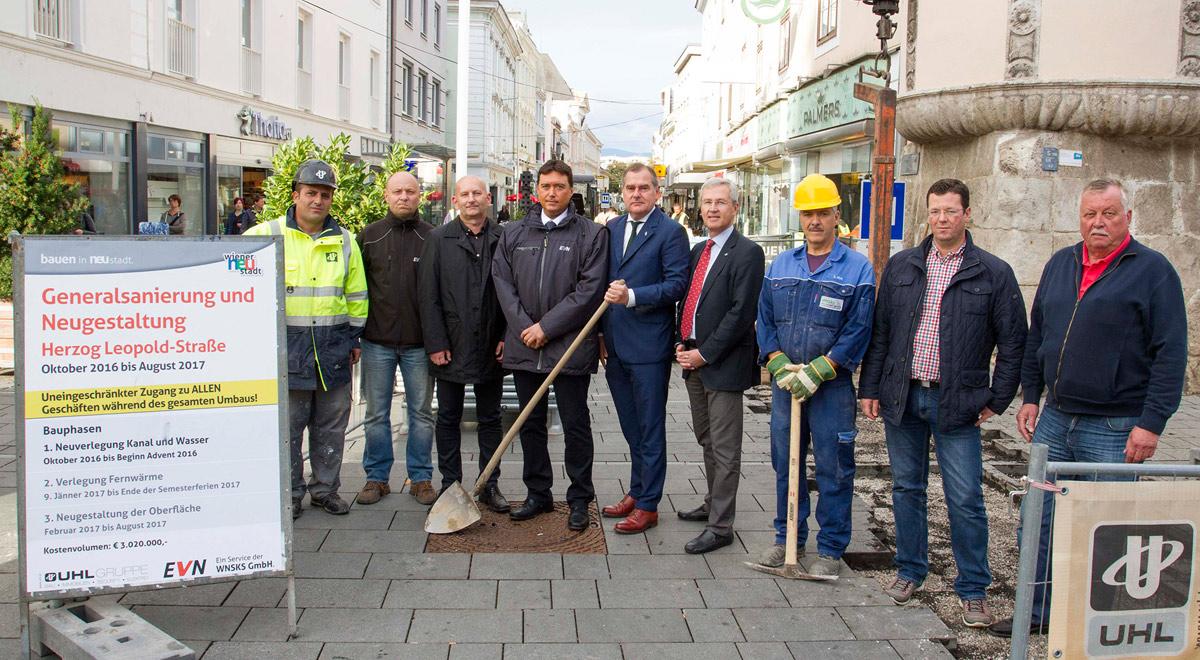 Neugestaltung Herzog Leopold Straße / Foto: Wiener Neustadt/Weller