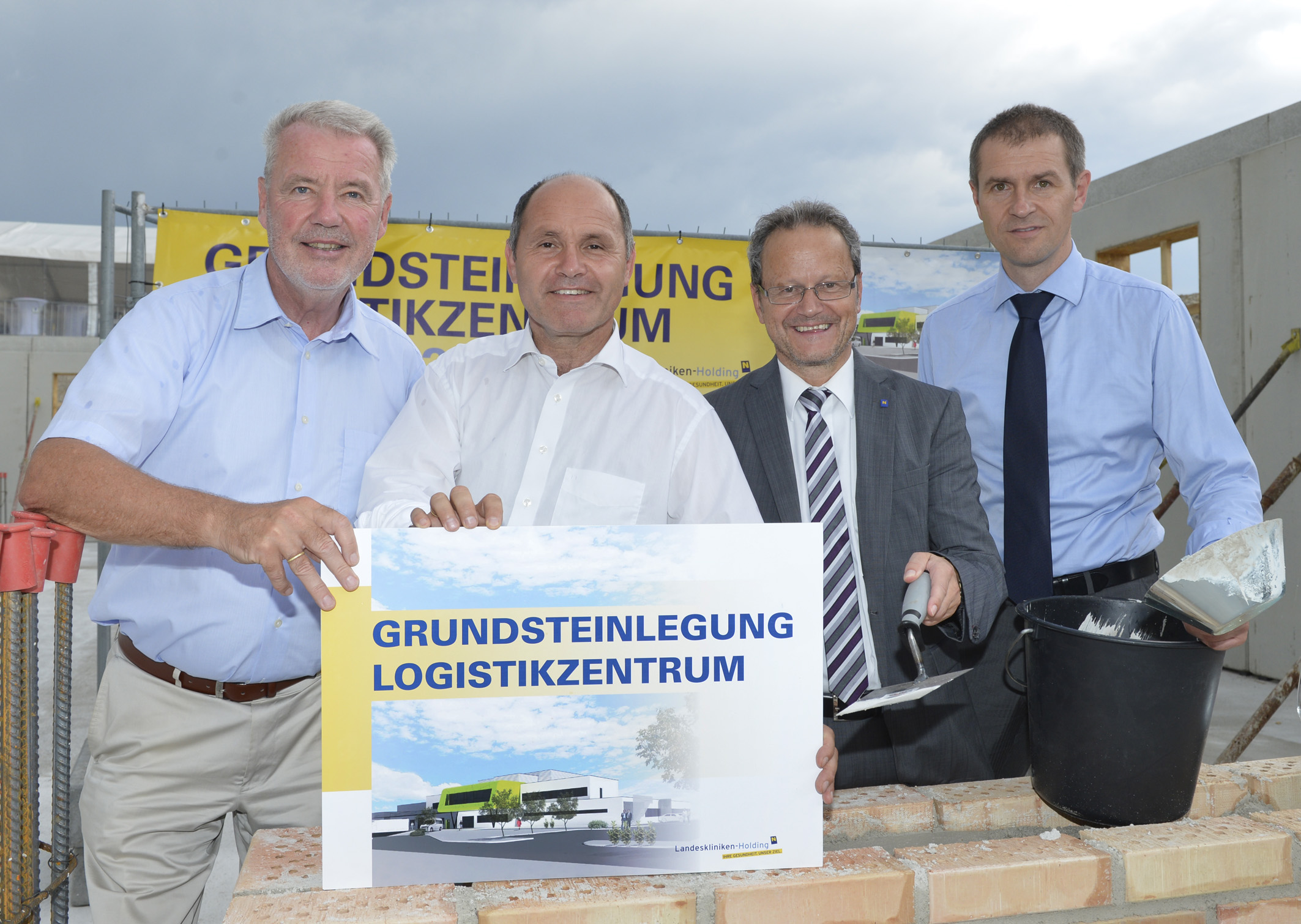 Grundsteinlegung Logistikzentrum Wiener Neustadt / Foto: NÖ Landeskliniken-Holding