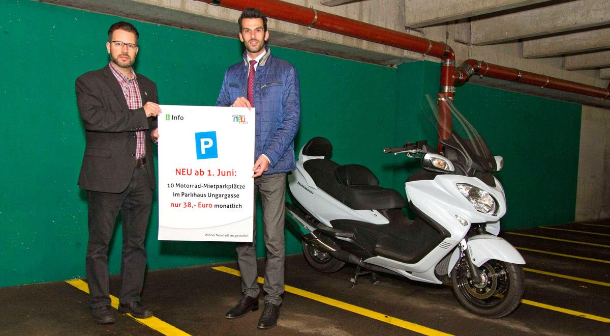 Dauerparkplätze für Motorräder / Foto: Magistrat