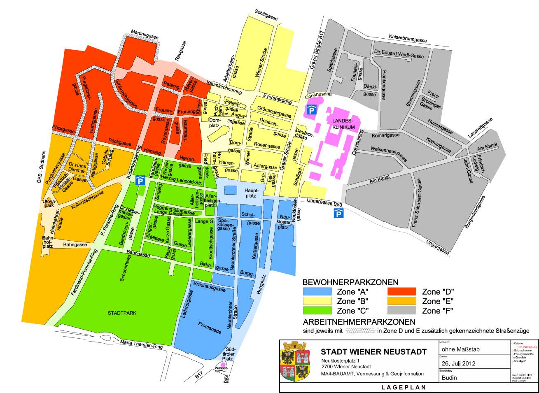 Parkzonen / Foto: Magistrat Wiener Neustadt